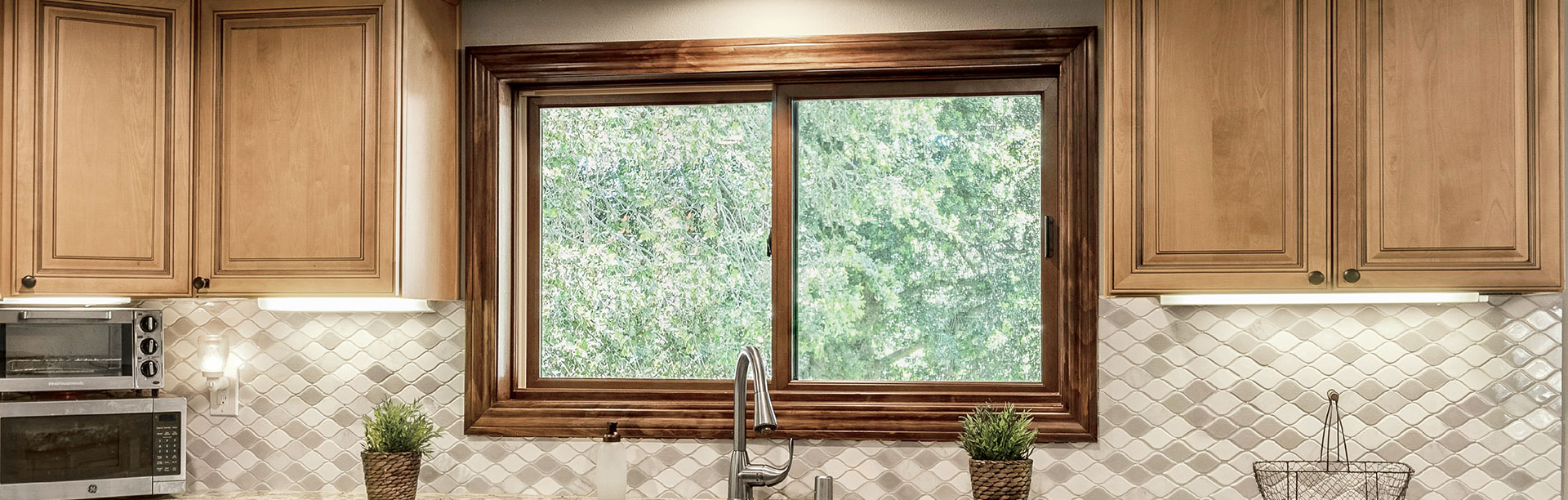 Sliding Window in Kitchen