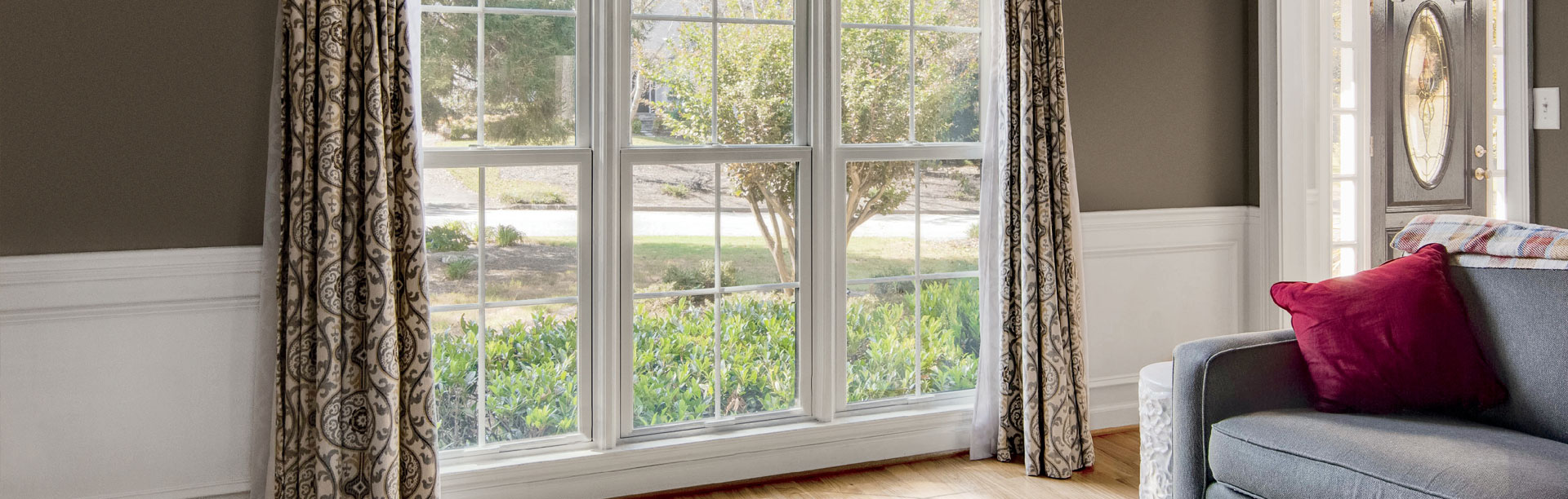 Double Hung Windows in Living Room